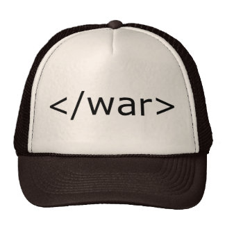 End War html - Black & White Mesh Hat