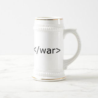 End War html - Black & White Coffee Mug