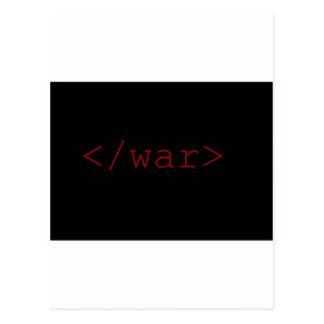End War (in HTML) Postcard