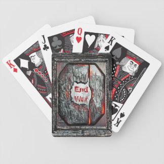 End War Bicycle Poker Cards