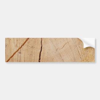 end wood bumper sticker