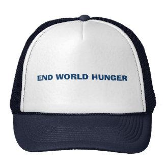 END WORLD HUNGER CAP