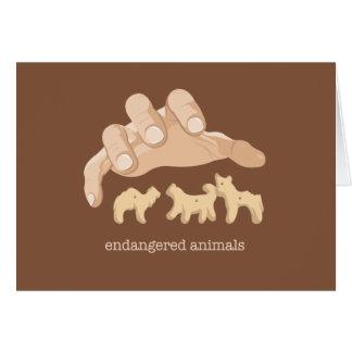 Endangered Animals Greeting Card