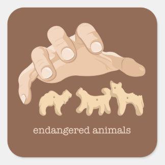 Endangered Animals Square Sticker