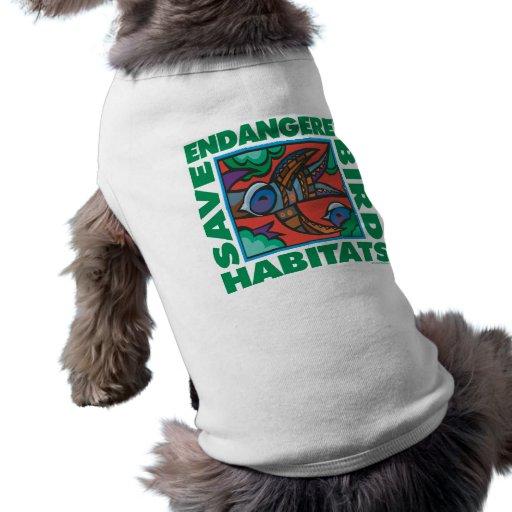 Endangered Birds Doggie Tshirt
