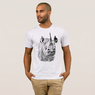 Endangered Black Rhino   African Wildlife T-Shirt