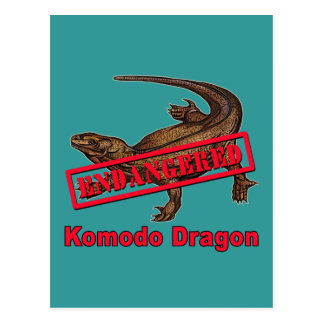 Endangered Komodo Dragon Tshirts Postcard