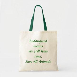 Endangered means we still have time!!