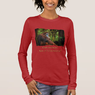 Endangered Orangutans Primate Wildlife Art T-Shirt
