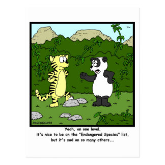Endangered Species Postcard