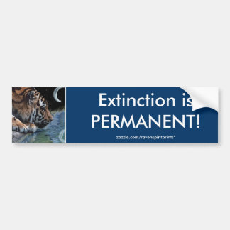 ENDANGERED TIGERS  Bumper Sticker Series