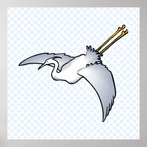 Endive Egret Print
