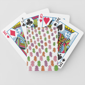 Endless Forest Pine Trees Print Bicycle Playing Cards