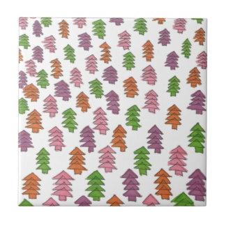 Endless Forest Pine Trees Print Ceramic Tile
