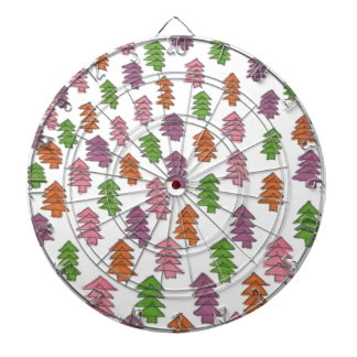 Endless Forest Pine Trees Print Dartboard