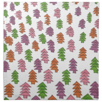 Endless Forest Pine Trees Print Napkin