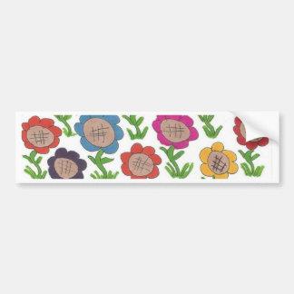 Endless Garden Flower Pattern Art Bumper Sticker