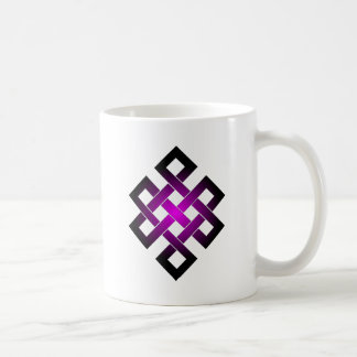 Endless knot basic white mug