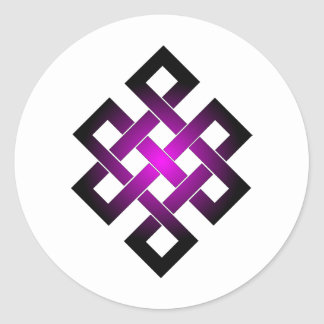 Endless knot round stickers
