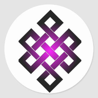 Endless knot round sticker