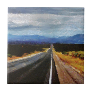 Endless Road - New Mexico. Ceramic Tile