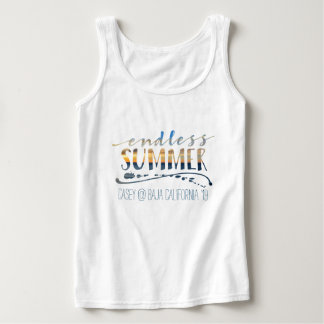 Endless Summer Beach Vacation Sunset Typography Singlet