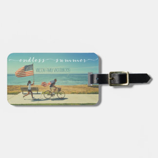 Endless Summer Typography Family Vacation Photos Luggage Tag