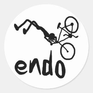 Endo Stick figure Classic Round Sticker