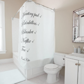 EndoChic Checklist Shower Curtain