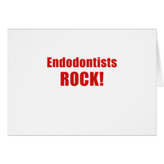 Endodontists Rock Card