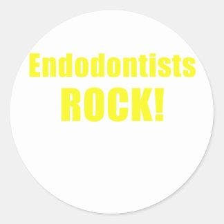 Endodontists Rock Classic Round Sticker