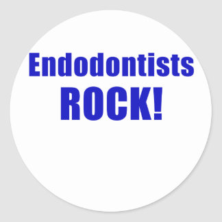 Endodontists Rock Round Sticker