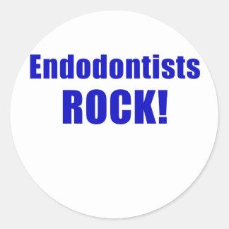 Endodontists Rock Round Sticker