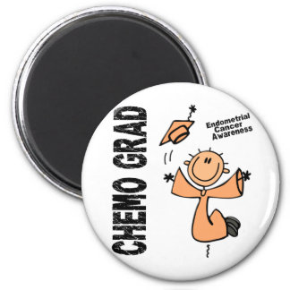 Endometrial Cancer CHEMO GRAD 1 Refrigerator Magnets