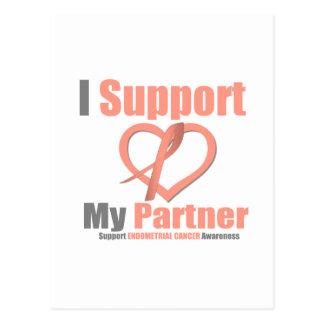 Endometrial Cancer I Support My Partner Postcard