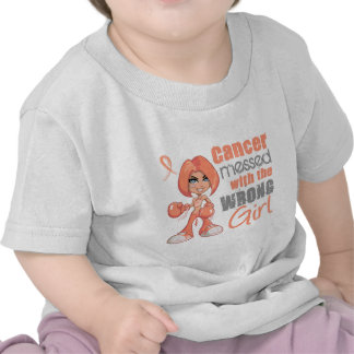 Endometrial Cancer Messed With Wrong Girl T-shirts