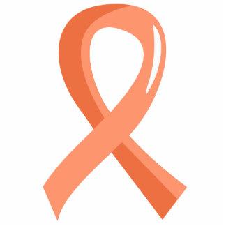 Endometrial Cancer Peach Ribbon 3 Photo Sculpture