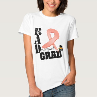 Endometrial Cancer Radiation Therapy RAD Grad Tee Shirts