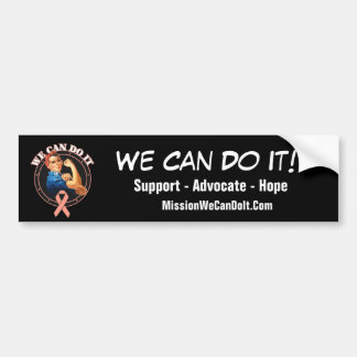 Endometrial Cancer Rosie The Riveter We Can Do It Bumper Sticker