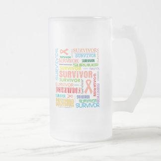 Endometrial Cancer Survivor Collage.png Frosted Glass Mug