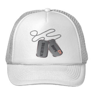 Endometrial Cancer Survivor Dog Tags Trucker Hat