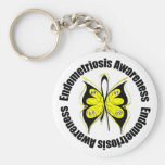 Endometriosis Awareness Butterfly Ribbon Key Chains