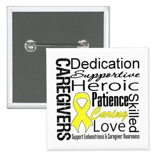 Endometriosis Caregivers Collage Pins