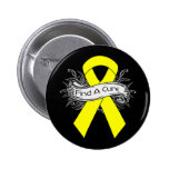 Endometriosis Find A Cure Ribbon 6 Cm Round Badge
