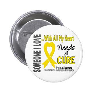 Endometriosis Needs A Cure 3 6 Cm Round Badge