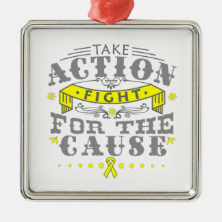 Endometriosis Take Action Fight For The Cause Christmas Ornaments