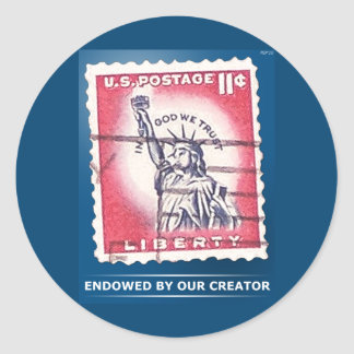 Endowed By Our Creator Round Sticker