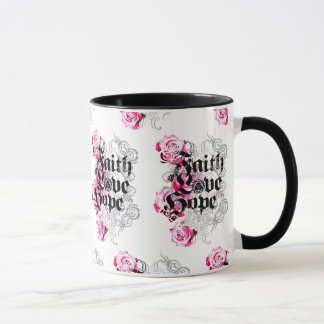 ENDURE FAITH HOPE AND LOVE MUG