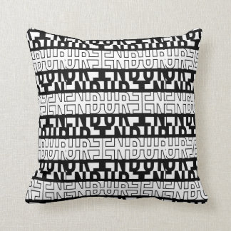 ENDURE | SLICED BLACK AND WHITE THROW PILLOW