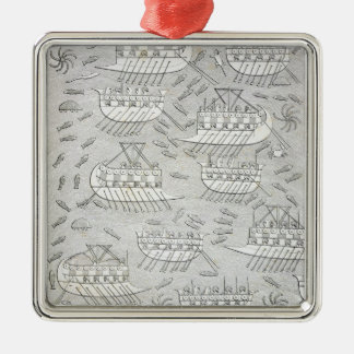 Enemies of the Assyrians taking refuge in ships, p Christmas Ornament